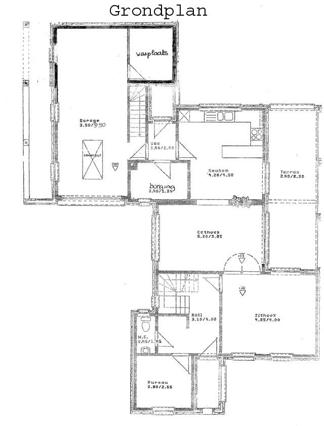 Vrijstaande villa met tuin en inpandige garage colson vastgoed - Plannen badkamer m ...