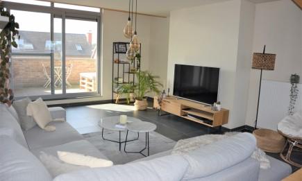Ruim appartement met 3 slaapkamers, terras, kelderberging en garage.